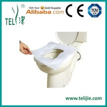 1/4 fold paper toilet seat cover/disposable plastic toilet paper seat cover by CE ,ISO 13458 certificated