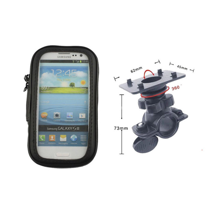 Universal Mobile Phone Bicycle Waterproof Case Scooter Handlebar Smartphone Bike Mount for iPhone 7 plus 6S 5SE