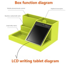 Newly multi-functional pen container with LCD memo board
