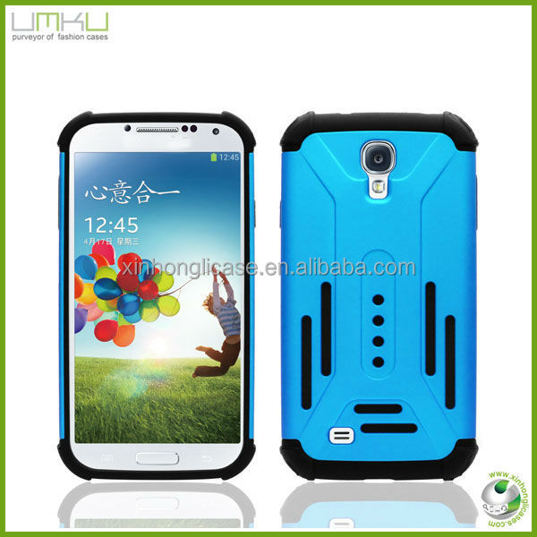 Best selling 2in1 phone hybird case for Samsung galaxy s4 i9500 Colorful soft Silicone Case phone