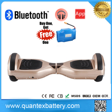 2017 most popular hoverboard bluetooth 2 wheel electric scooter 6.5 inch self balancing hoverboard
