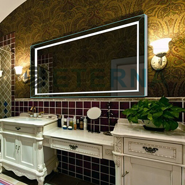 Fancy Hotel Bathroom Decoration LED Lighted Vanity Mirror