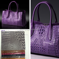 Faux crocodile leather for fashion ladies handbag and purse usage