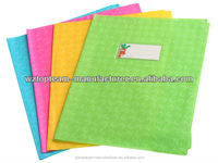 PVC Plastic embossed exercise book cover; decorating scrapbook cover;