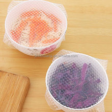 Hot Sale Kitchen Tools Silicone Seal Cover Reusable Keep Food Fresh Plastic Wrap