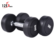 Top Quality Iron Rubber Covered 50kg dumbbell Set Gym Free Weights For Men