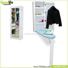 Living room furniture wall mounted ironing board mirror