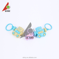 New toy funny plastic baby toy cartoon rattle 3 bear for newborn
