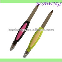 Hot selling Plastic hadle nail file with skin fork
