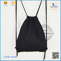 2016 wholesale leather cute sports sackpack polyester drawstring bag/drawstring backpack/foldable nylon bag
