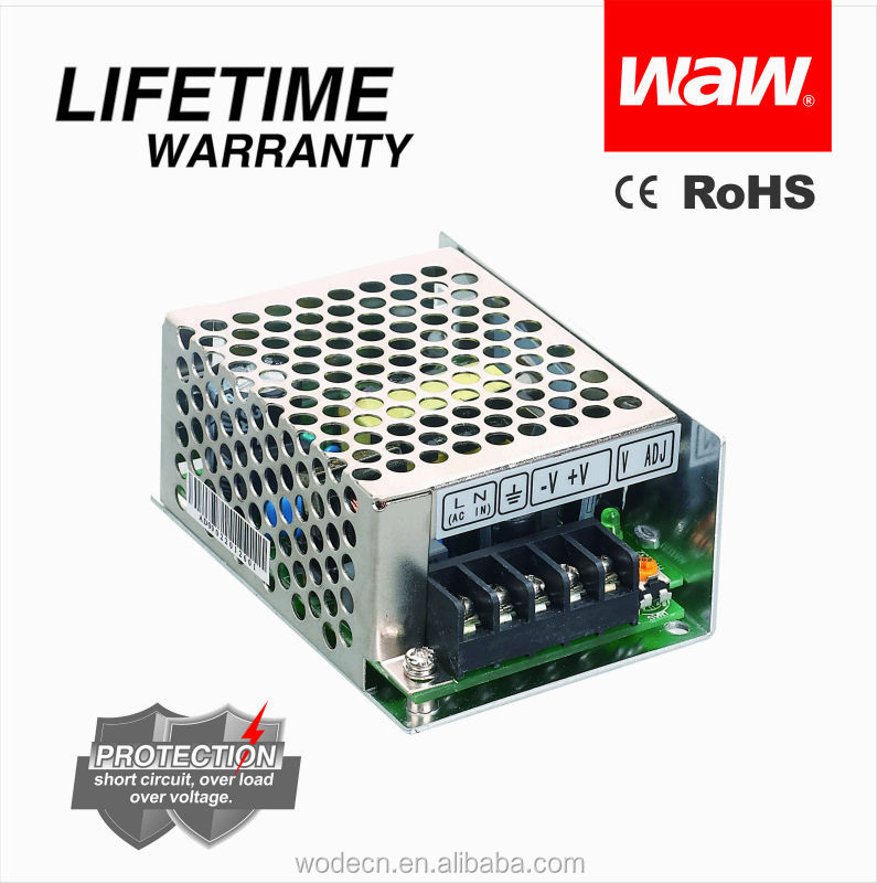 Mini size 12v 3a 35w MS-35-12 ac to dc 110V/220V Transformer with CE ROHS approved