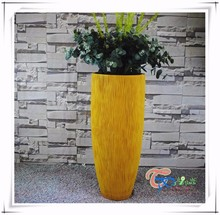 Fiberglass modern outdoor tall wholesale white planters and pots