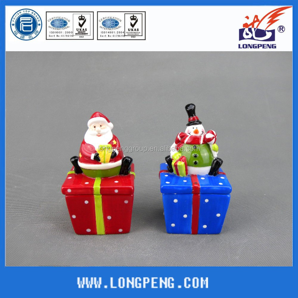 Custom Ceramic Christmas Santa Claus/Snowman Jewellery Box ,Ceramic Jewelry Box with Cover