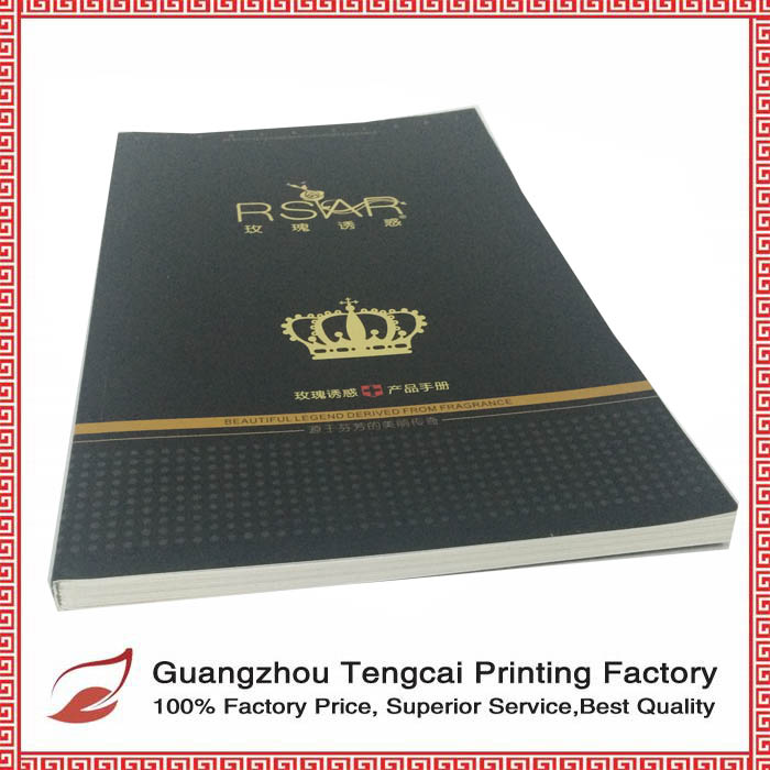 Hot sale luxury professional creative custom advertise softcover A4 catalogue design printing