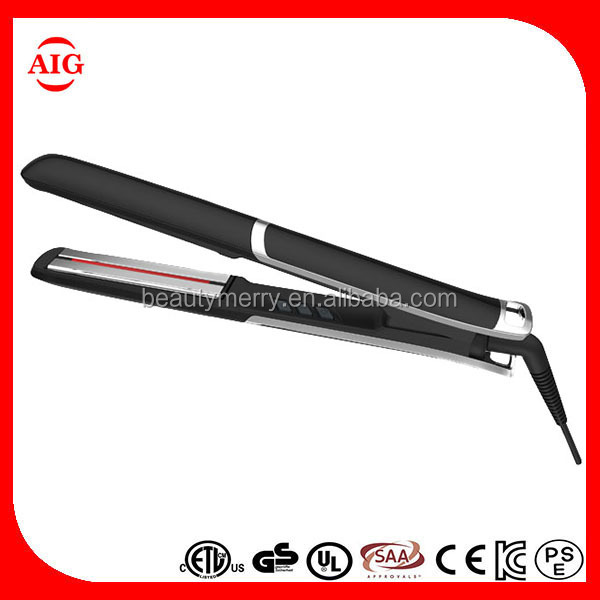 Professional Private Label Hair Styling Tools ultrasonic infrared hair care straighteners ceramic heating element for hair