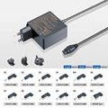 45W smart ultrabook universal ac adapter with 12 tips for Lenovo for Asus for HP and so on