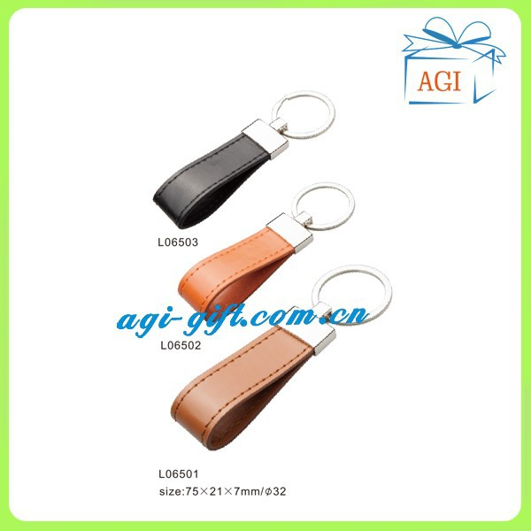 promotion handmade leather keychain