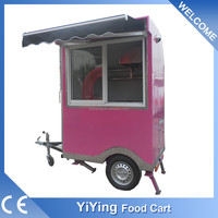 China shanghai yiying factory YY-FS150 street bakery fast food cart bbq trailer for sale