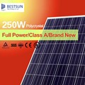 250W High Effeciency Monocrystalline/Polycrystalline Silicon Cell Semi Flexible Solar Panel for 12v Battery