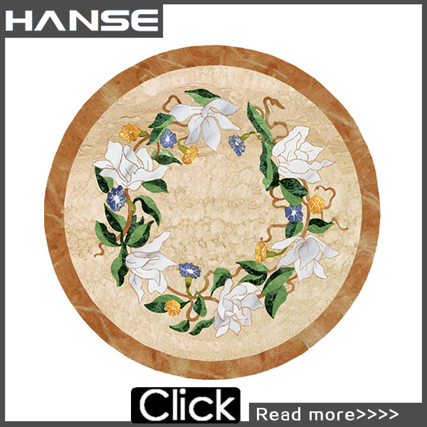 Marble mosaic patterns/flower marble mosaic tile/marble mosaic floor medallion