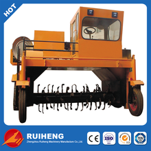 mobile compost turner for bio organic fertilizer production