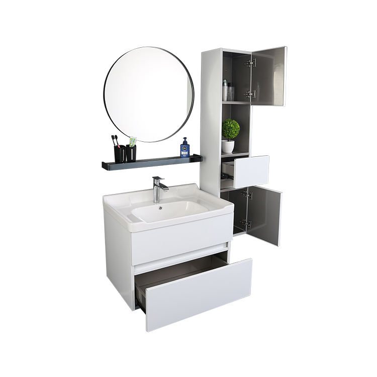 Toilet  Cabinet Big White Lacquer Bathroom Vanity