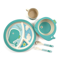 BPA Free Bamboo Fibre Kids Dinner Set