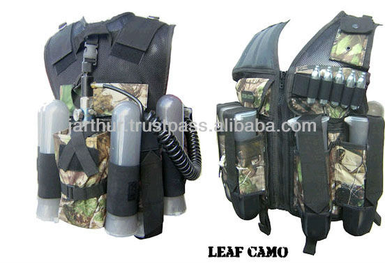Paintball Vest (Leaf Camo)