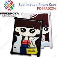 2014 Sublimation PC Phone Case for iPad 2/3/4