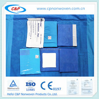 CE/ISO disposable surgical non woven OB drape pack