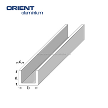 Best selling aluminium extruded U channel profile