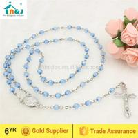 Eco-Friendly Material cheap plastic beads rosary necklace the newest