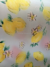 Double layer printed fabric organza mixed with thickness garment fabrics