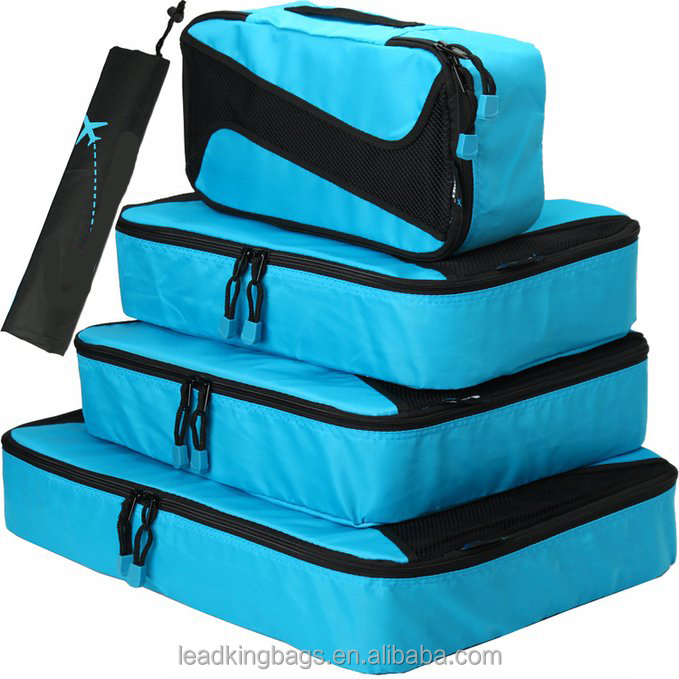 Travel luggage packing organizers packing cubes with laundry