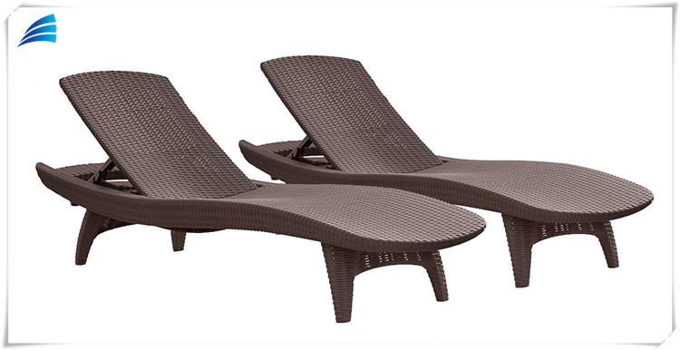 All-weather Adjustable Outdoor Patio Rattan Sun Lounger/Chaise Lounge