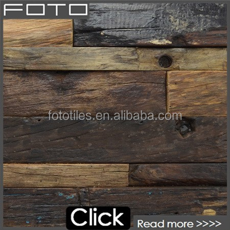FOTO Foshan wall decorative salvaged old wood wall mosaic