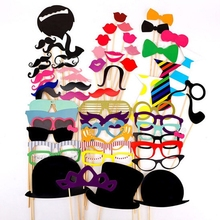 Wholesale halloween Photo Booth Props 60Pcs/Set 2015 New Photobooth For Wedding Decoration Birthday Party Event & Party Supplies
