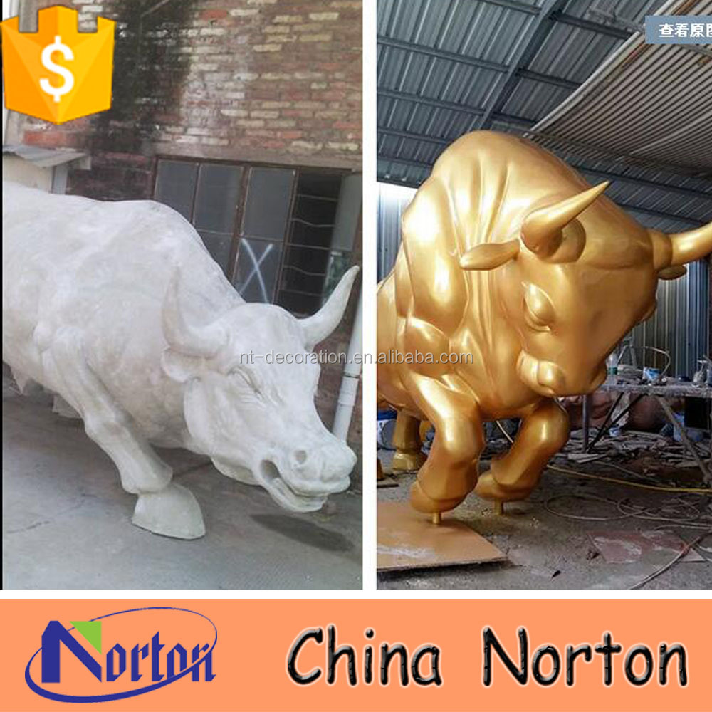 resin wall street bull large indoor bull sculpture NTRS555S