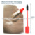 2ml PET Mini Key Chain Lip Gloss Mascara Eyeliner Cosmetic Tube Container
