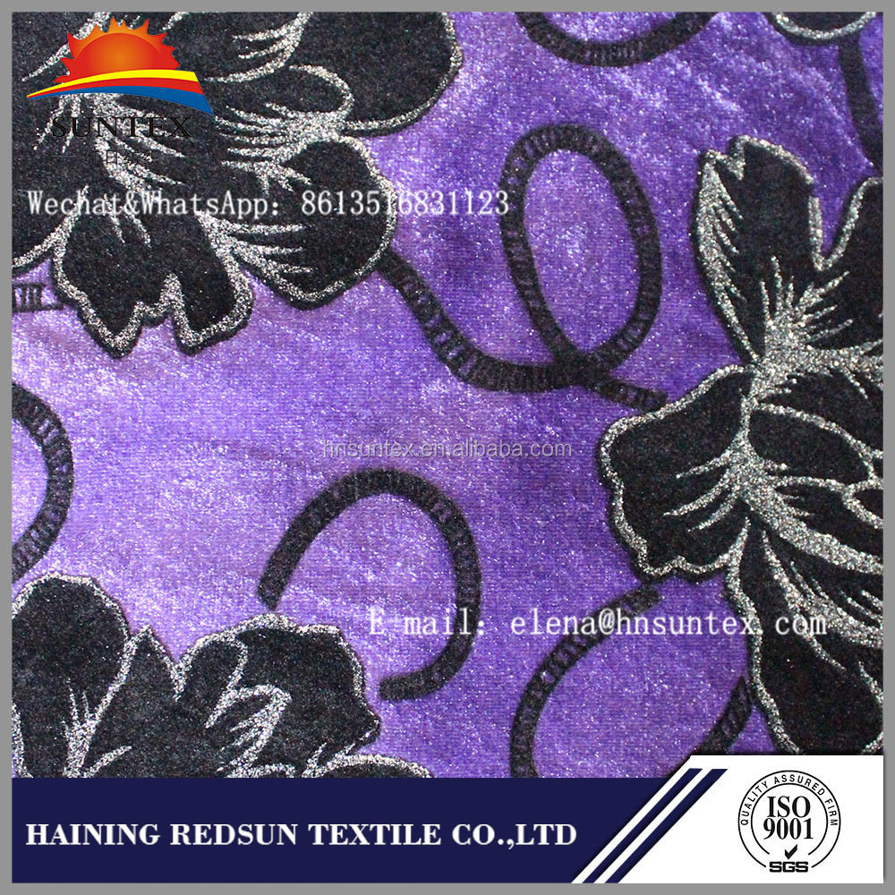 high quality low price nonwoven Polyester Flocking Fabric for Home Textile