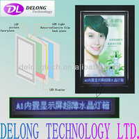 CE A1 size super bright slim crystal light box with LED display
