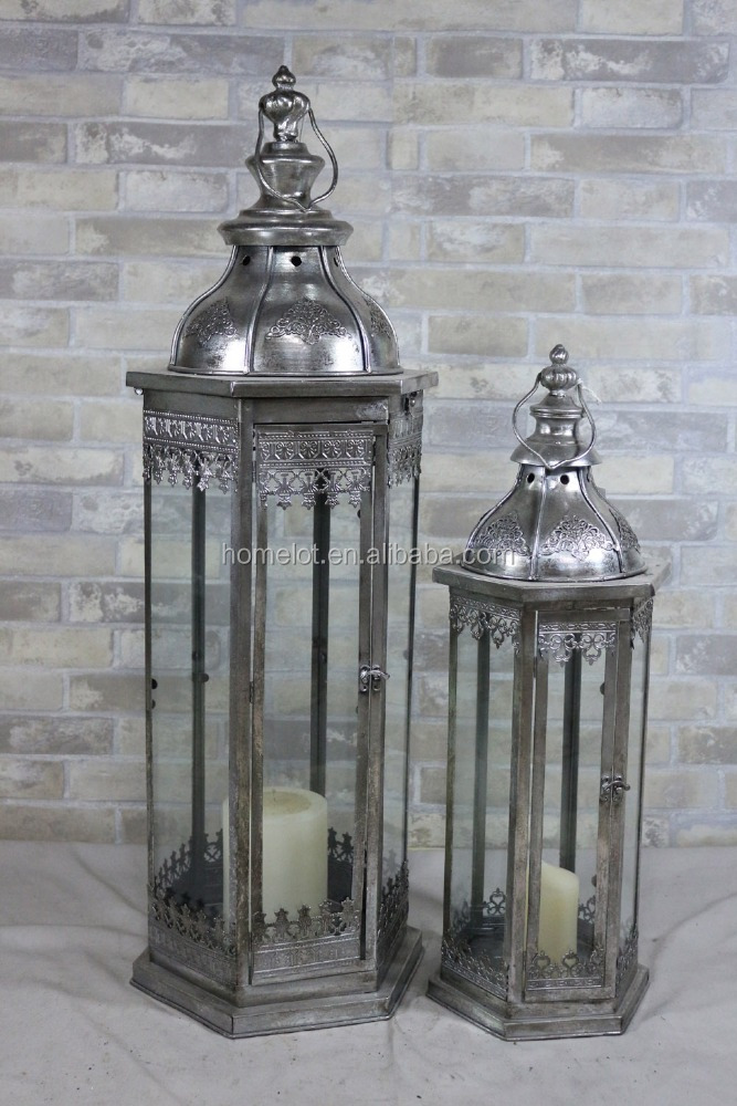 Top Quality Decor Moroccan Candle Lantern Iron Metal White Lanterns for Sale