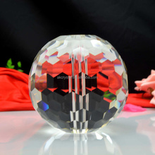 Hotel or Home decoration faceted hanging clear crystal ball with hole used on lamp or stairs