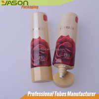 Cosmetic Plastic Oval Tube Packaging With Lid