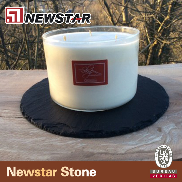 Dark slate tealight holder