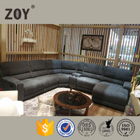 Comfortable and Luxurious Upholstery Soft Sectional Recliner Sofa ZOY R9906A