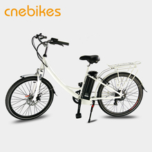 "26"" Removable Battery Electric Hub Motor Bicycle for Women"
