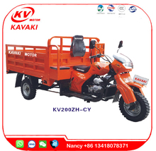 Guangzhou KAVAKIChinese Motorcycle Loncin Engines 200cc Three Wheel Cargo Motorcycles