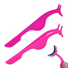 2017 Hot sale Women beauty cosmetic tools high quality stainless steel eyelash tweezer