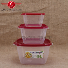 Hot sale square fresh lunch box/container home/disposable lunch box